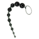 X-10 Black Jelly Anal Beads ~ SE1233-03